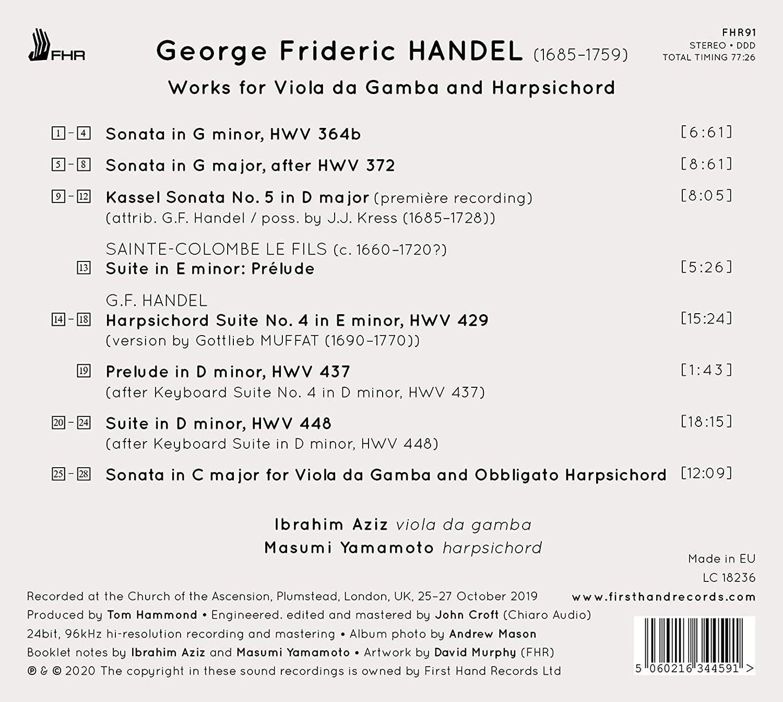 Photo No.2 of Handel: Works For Viola da Gamba and Harpsichord