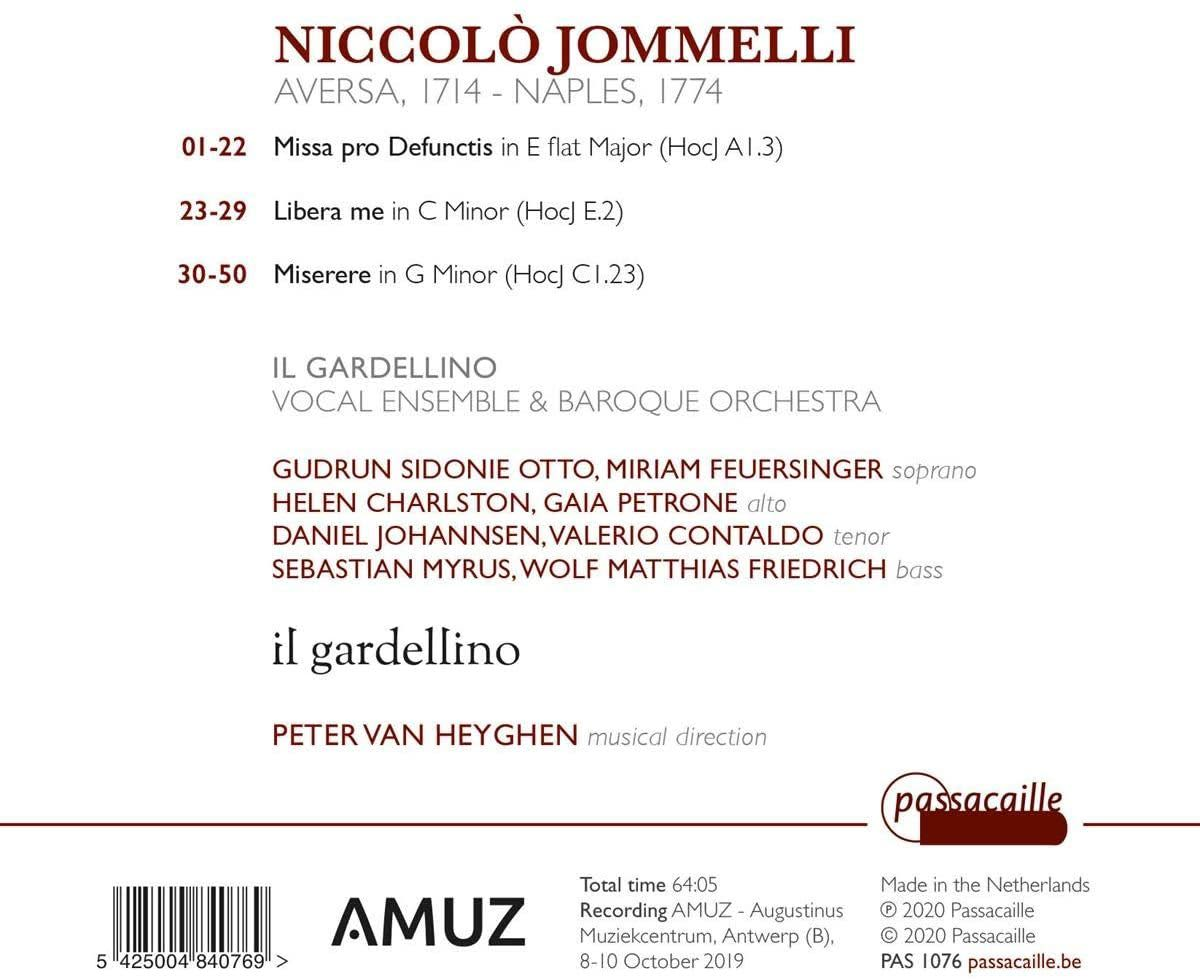 Photo No.2 of Niccolo Jommelli: Requiem & Miserere