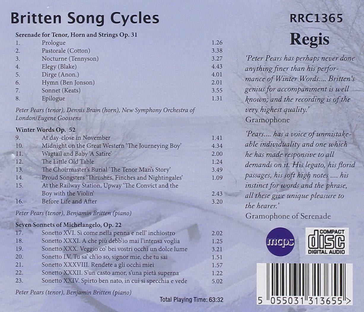 Photo No.2 of Britten: Song Cycles