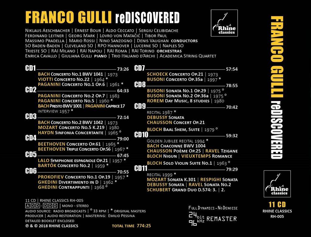 Photo No.2 of Franco Gulli Rediscovered: 1957-1999 Unreleased & Rare Recordings