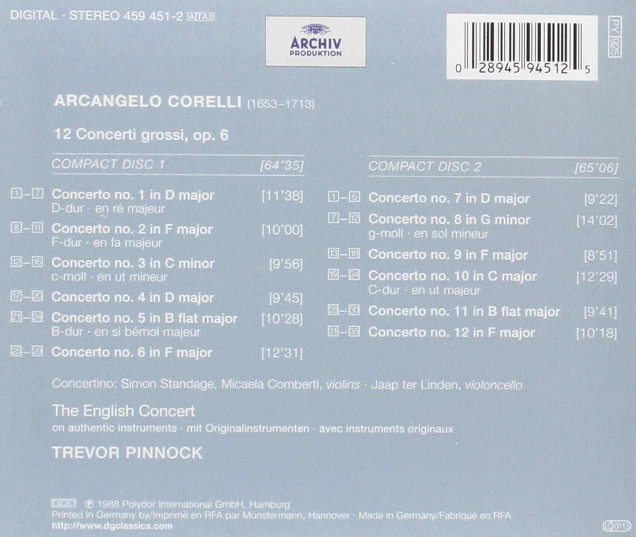 Photo No.2 of Corelli: Concerti grossi, Op. 6