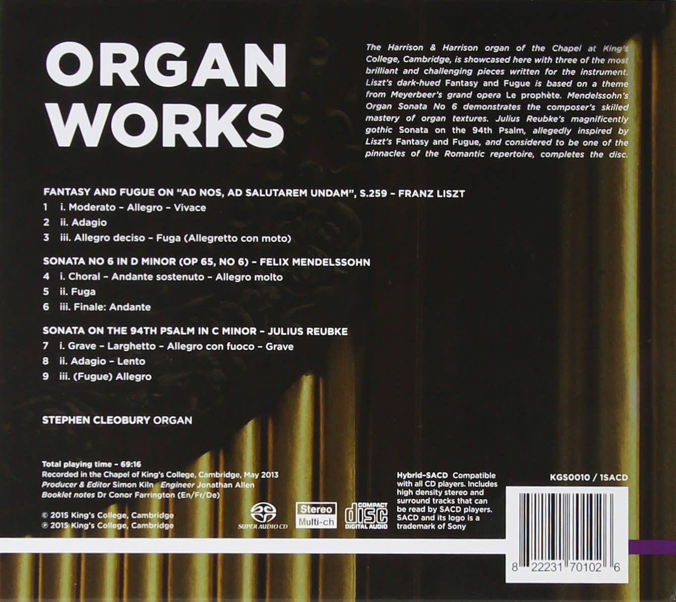 Photo No.2 of Liszt, Reubke & Mendelssohn: Organ Works