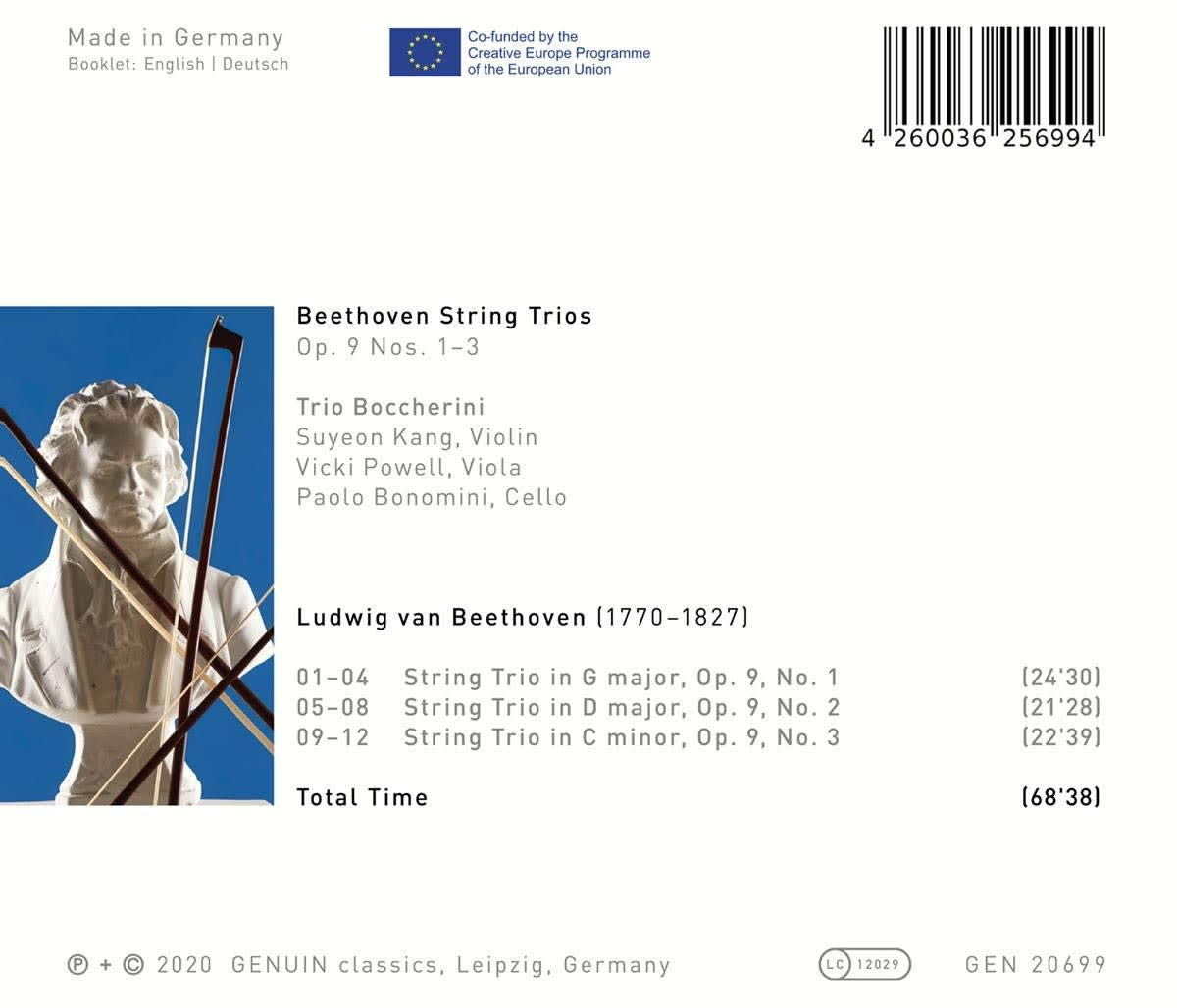Photo No.2 of Beethoven: String Trios Op. 9 Nos. 1-3