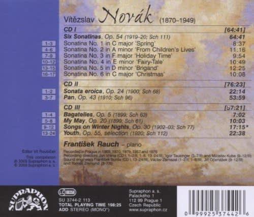Photo No.2 of Vitezlav Novák: Piano Works