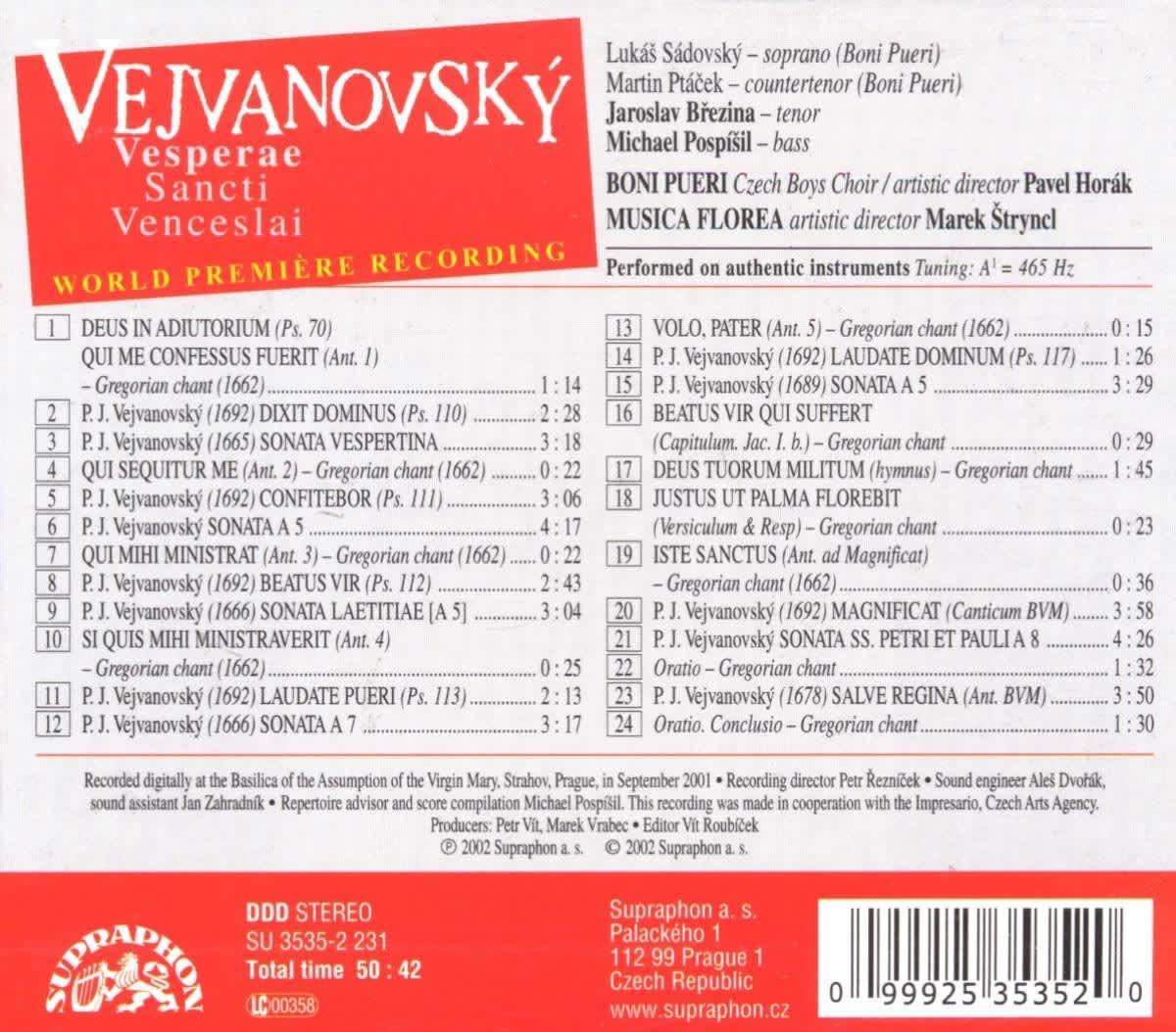 Photo No.2 of Pavel Josef Vejvanovsky: Vesperae Sancti Venceslai