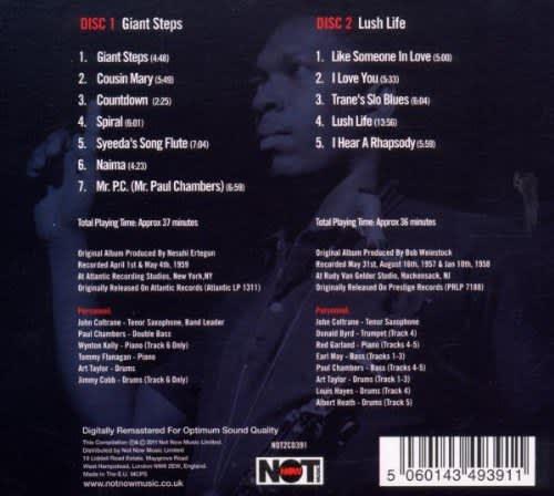 Photo No.2 of John Coltrane: Giant Steps / Lush Life