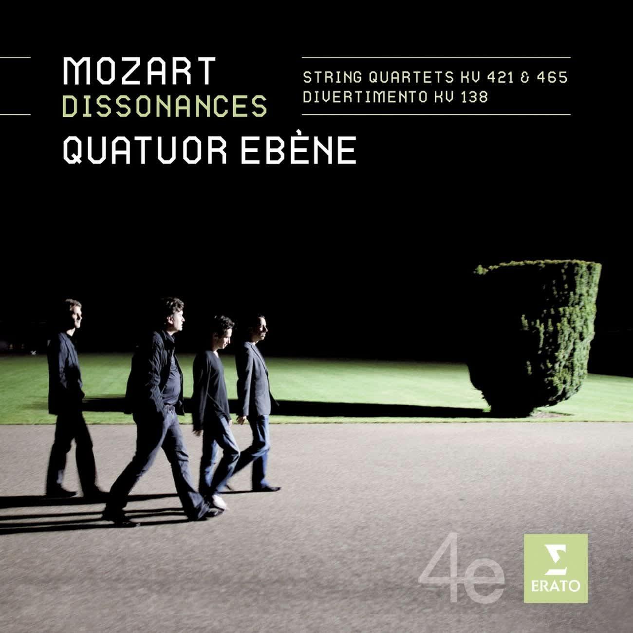 Photo No.1 of Mozart: Dissonances / String Quartets KV 421 & 465, Divertimento KV 138