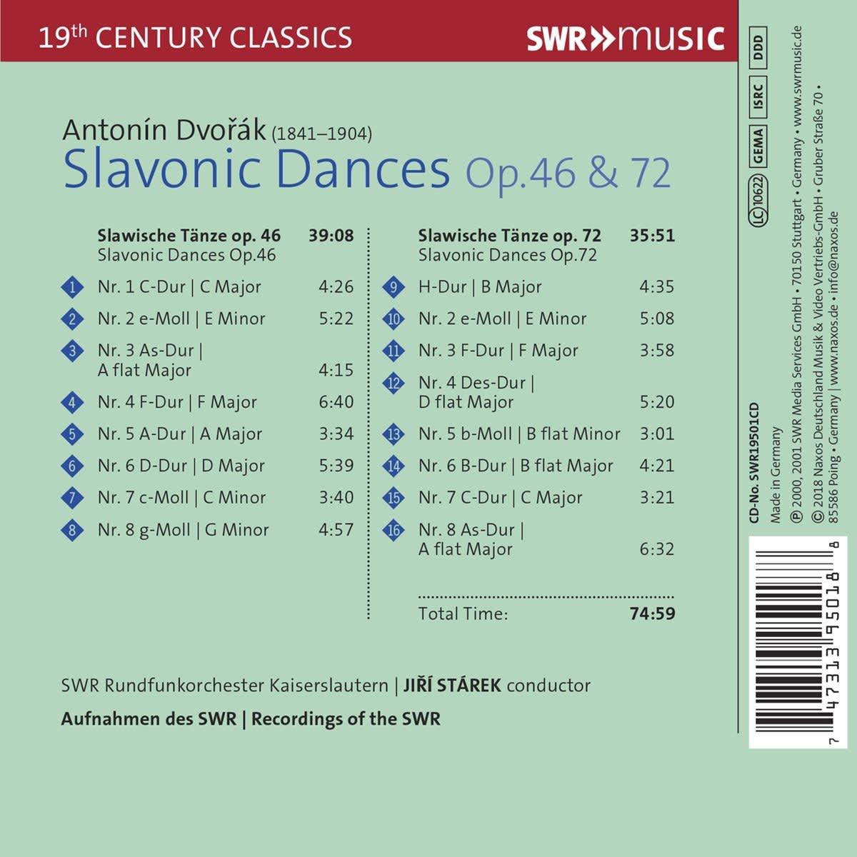 Photo No.2 of Dvorak: Slavonic Dances Op.46 & Op.72