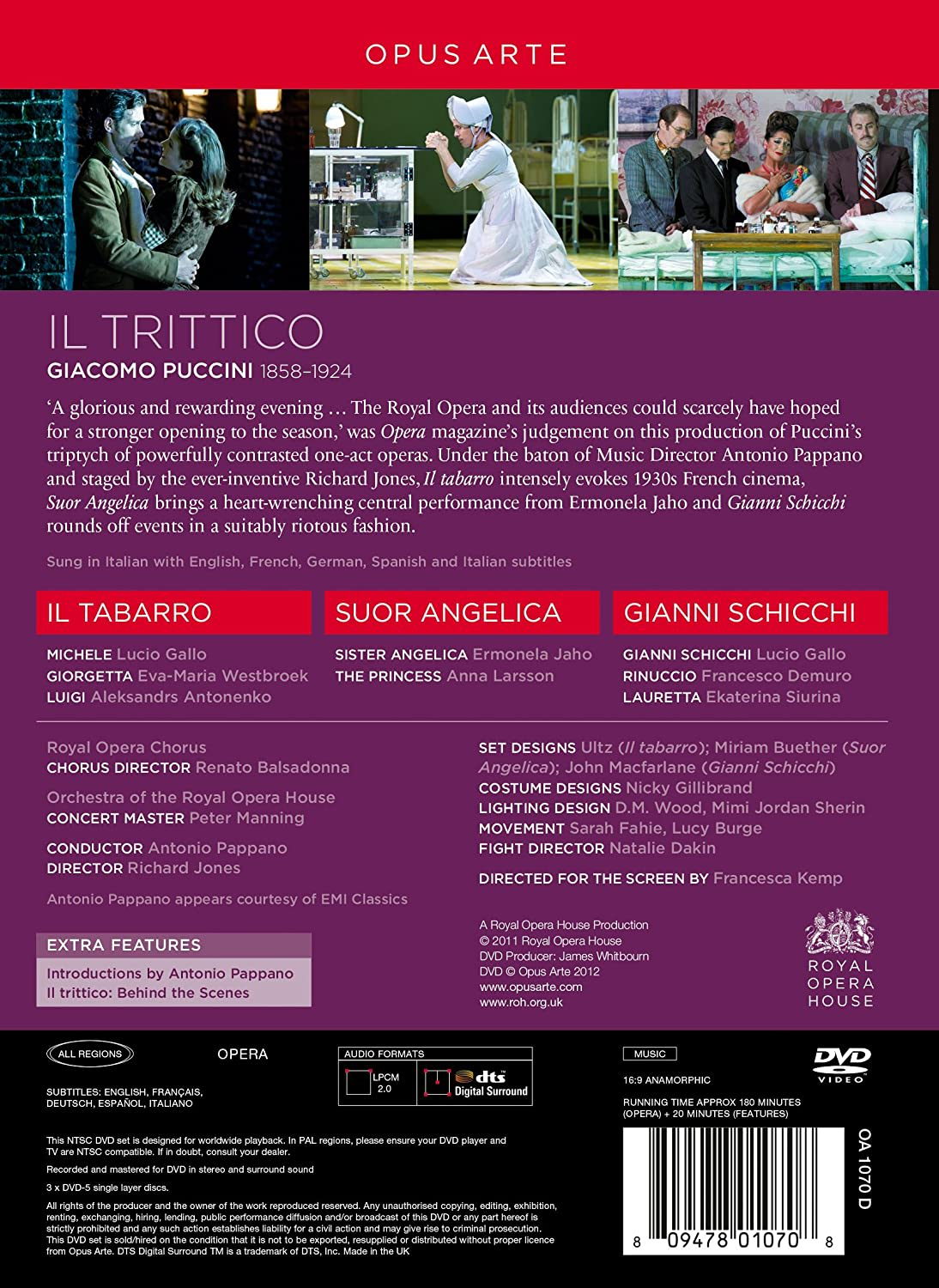 Photo No.2 of Giacomo Puccini: Il Trittico (Il Tabarro, Suor Angelica & Gianni Schicchi)