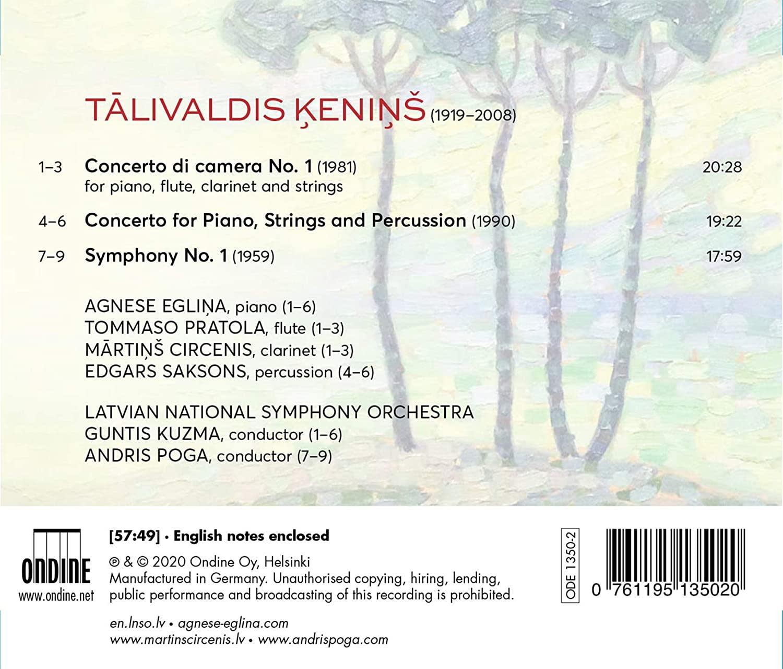 Photo No.2 of Talivaldis Kenins: Symphony No. 1, Two Concertos