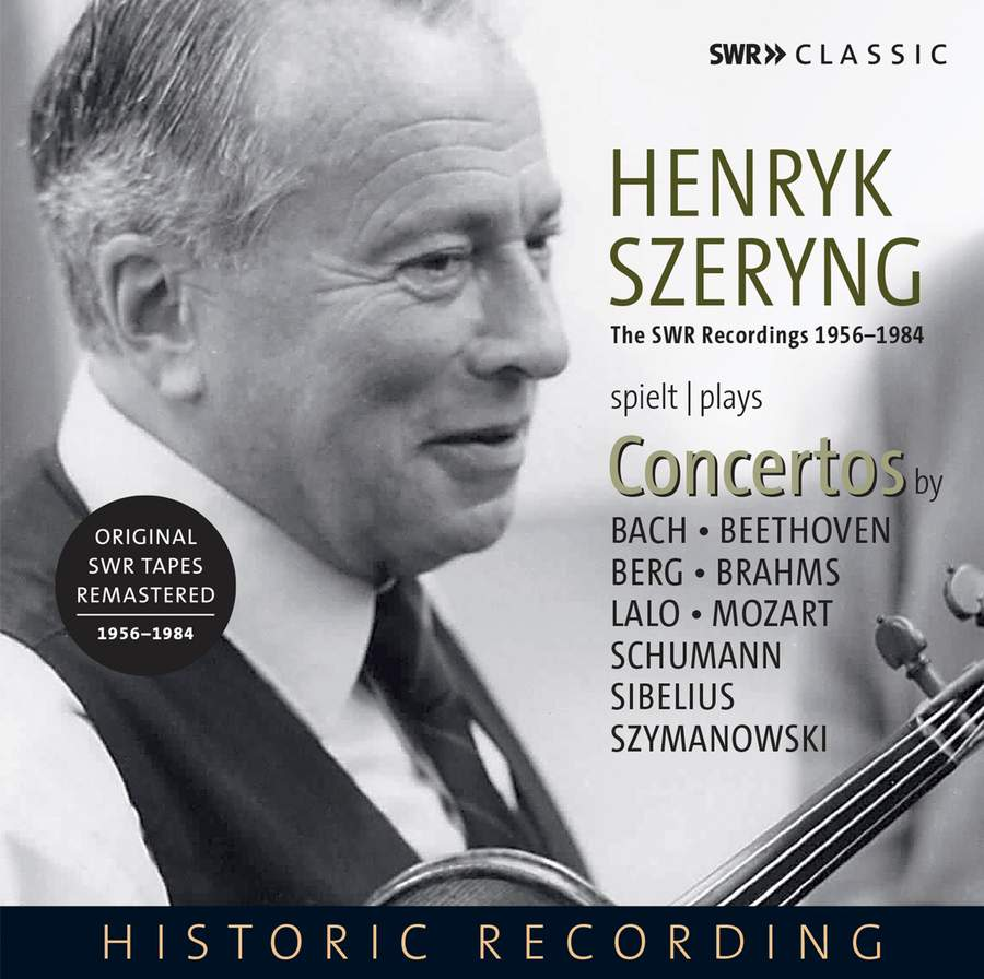 Photo No.1 of Henryk Szeryng plays Concertos (The SWR Recordings 1956-1984)