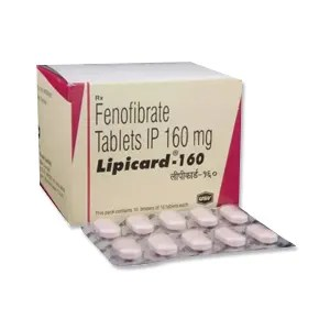 Buy Lipicard 160 mg Fenofibrate Tablet 100's Online at ...