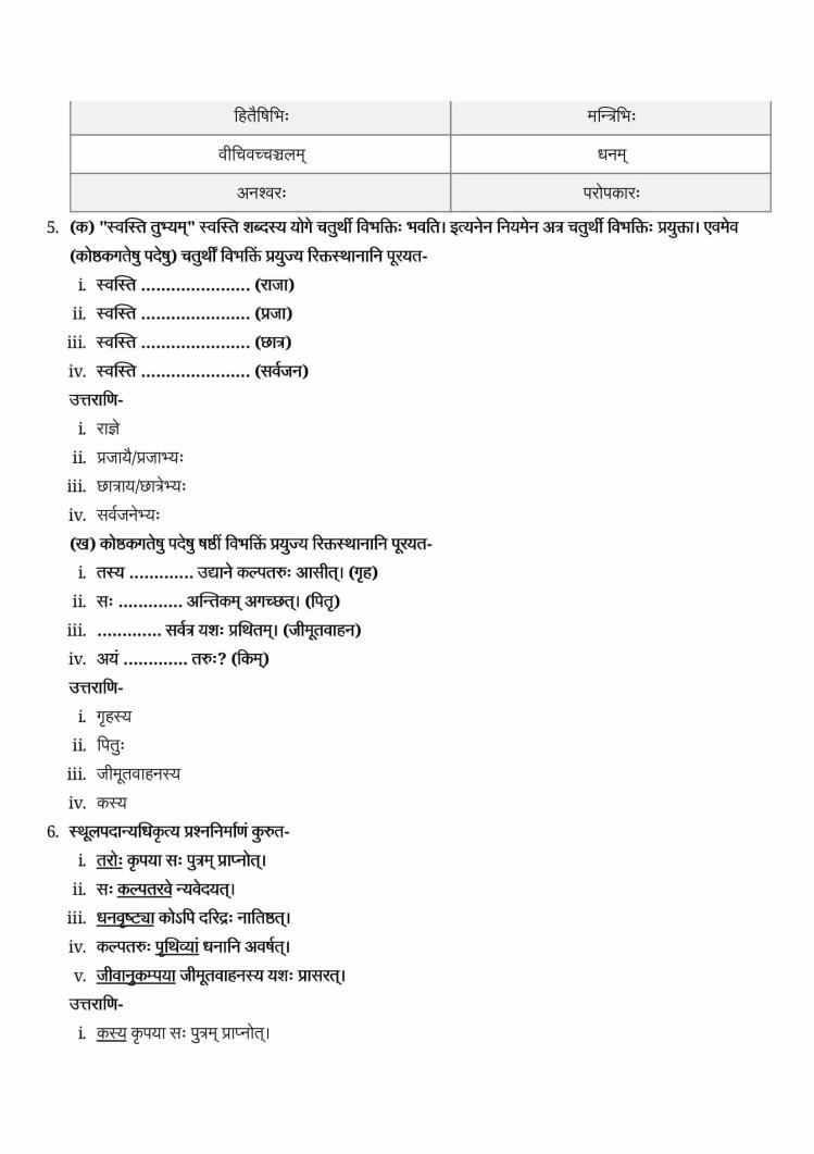 ncert solutions class 9 sanskrit shemushi chapter 4 kalpataru 3