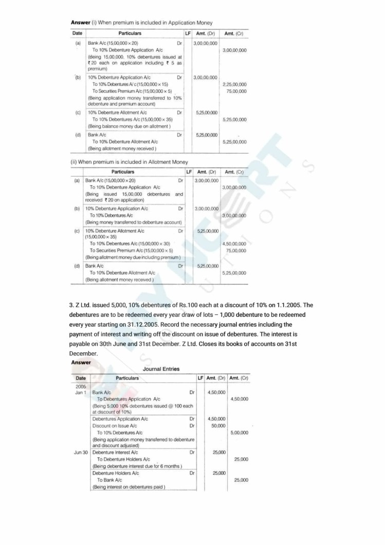 ncert solutions class 12 accountancy part 2 chapter 2 issue and redemption of debentures 06