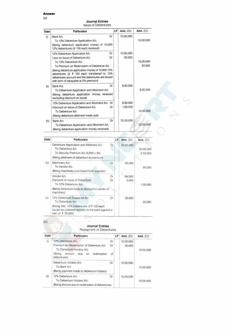 ncert solutions class 12 accountancy part 2 chapter 2 issue and redemption of debentures 39