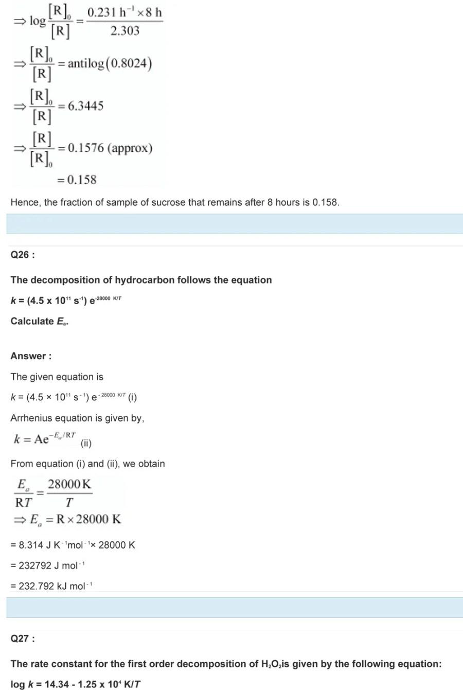 Class 12 Chemical Kinetics