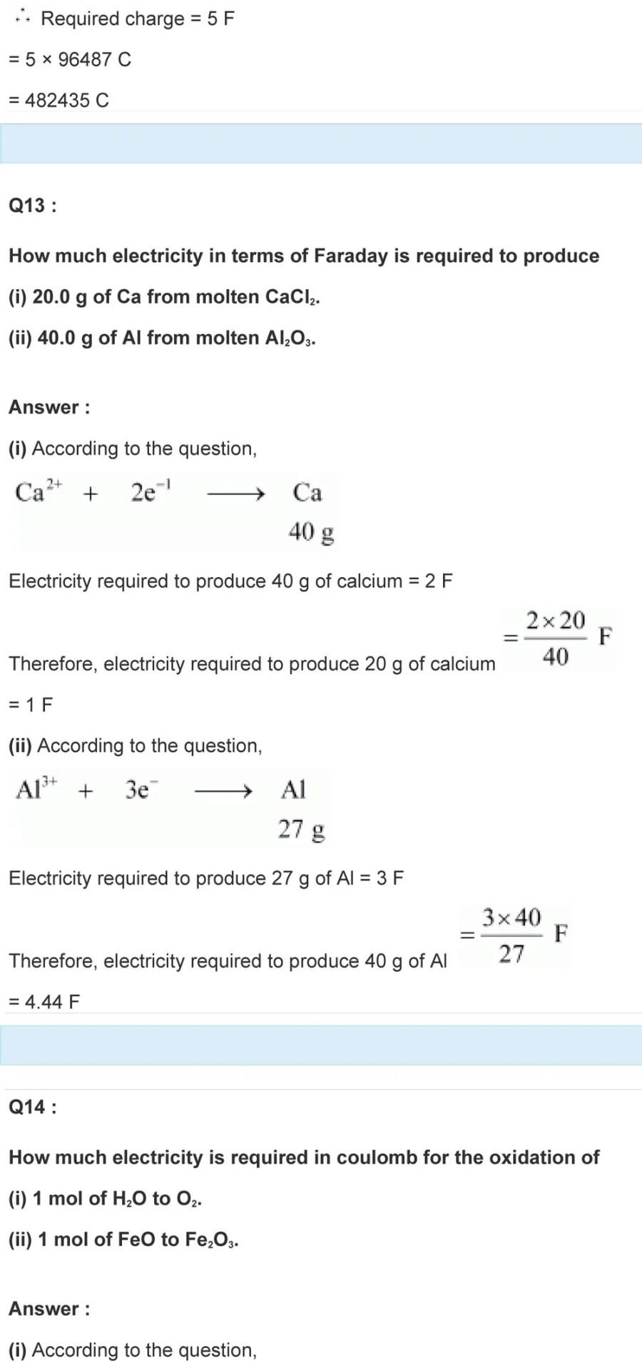 Class 12 Electrochemistry