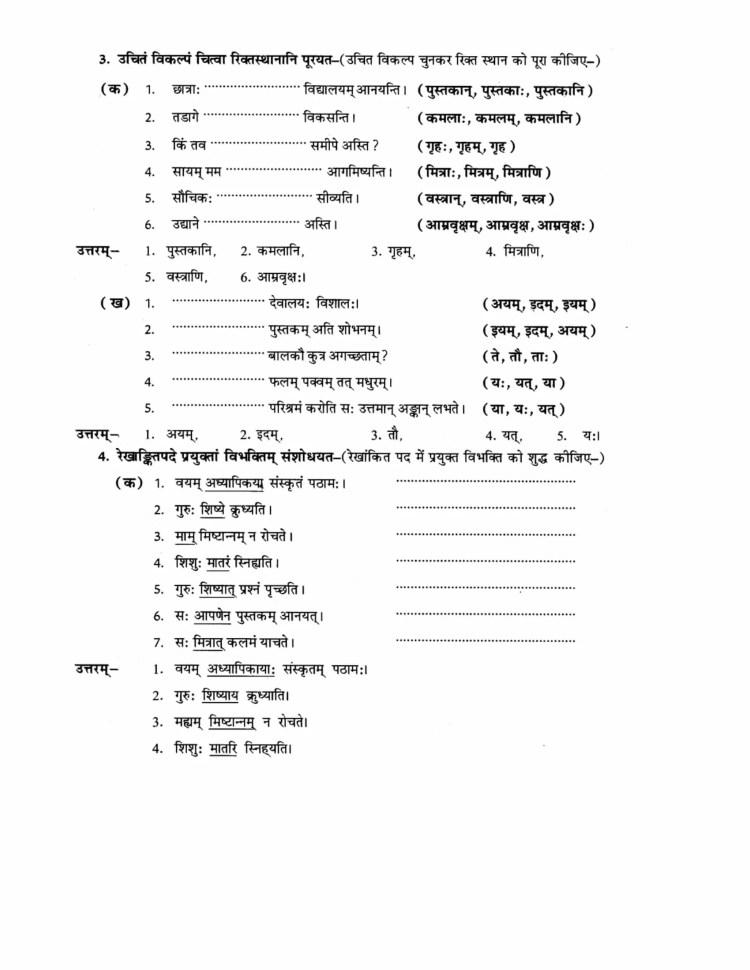 ncert-solutions-class-9-sanskrit-abhyaswaan-bhav-chapter-5-rachnanuvad-2
