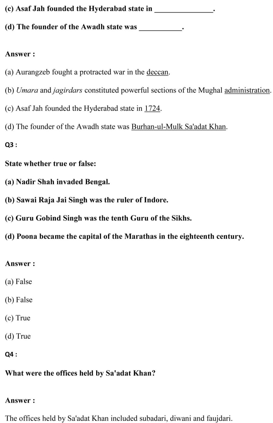 ncert solutions for class 7 history social science chapter 10 eighteenth century political formations 2