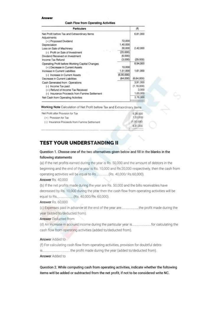 ncert solutions class 12 accountancy part 2 chapter 6 cash flow statement 03
