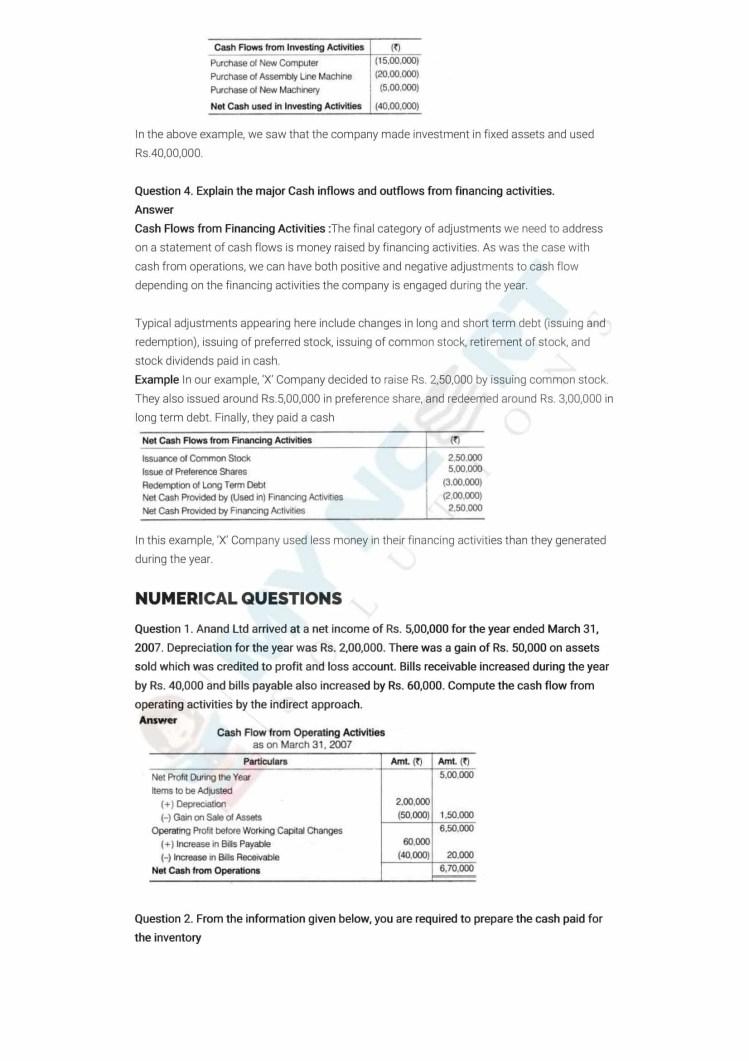 ncert solutions class 12 accountancy part 2 chapter 6 cash flow statement 12