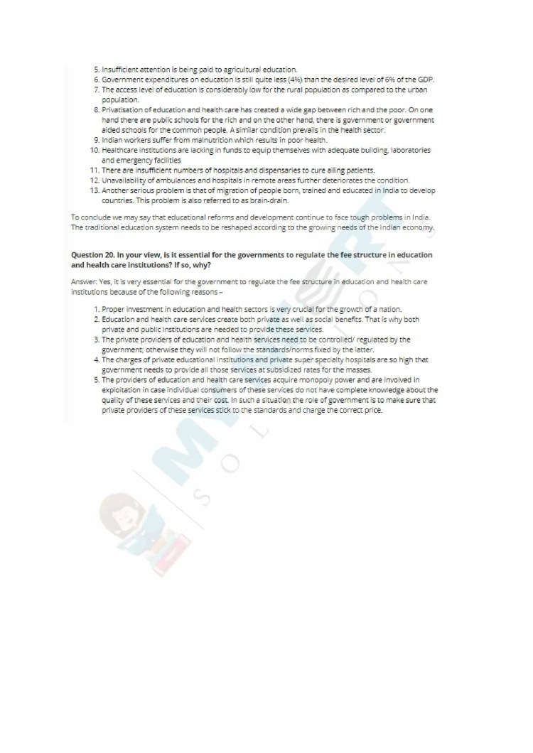 ncert solutions class 11 economics chapter 5 human capital formation in india 8