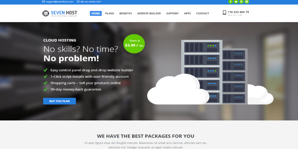WordPress Hosting Themes 2019