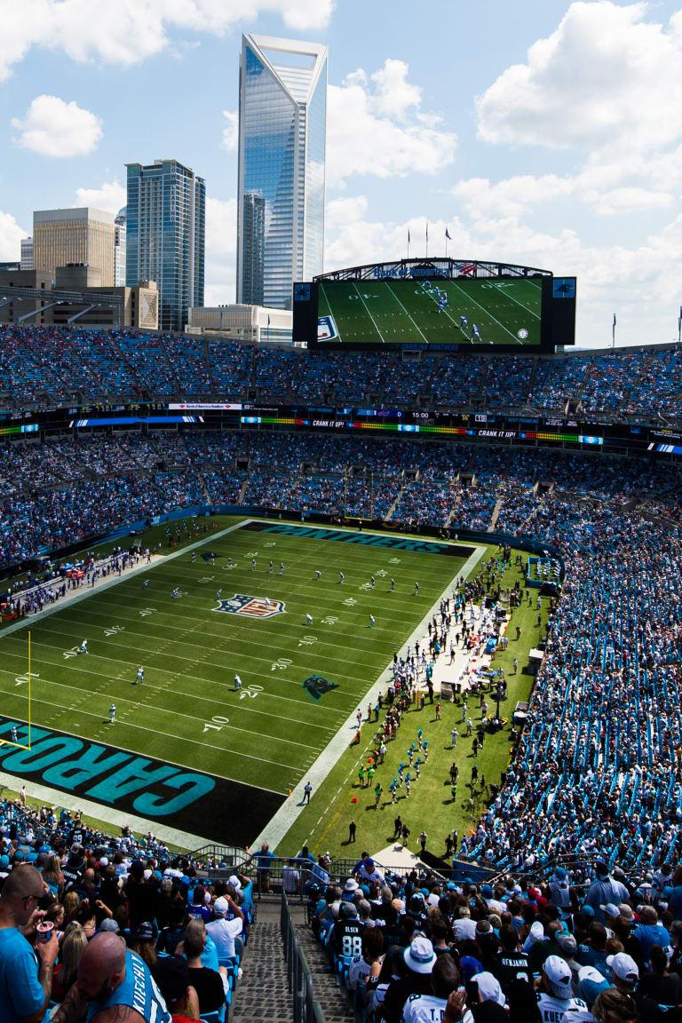 hight resolution of bank of america stadium