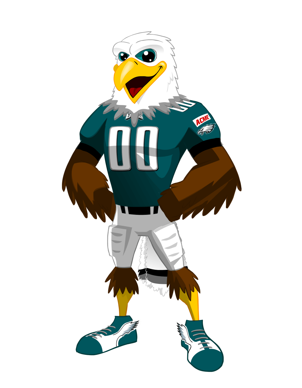 medium resolution of swoop one of the most beloved and iconic mascots in the nfl is known for his fun loving personality being the center of attention and entertaining fans
