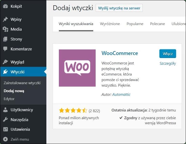 WooCommerce » WordPress dla opornych » część 1