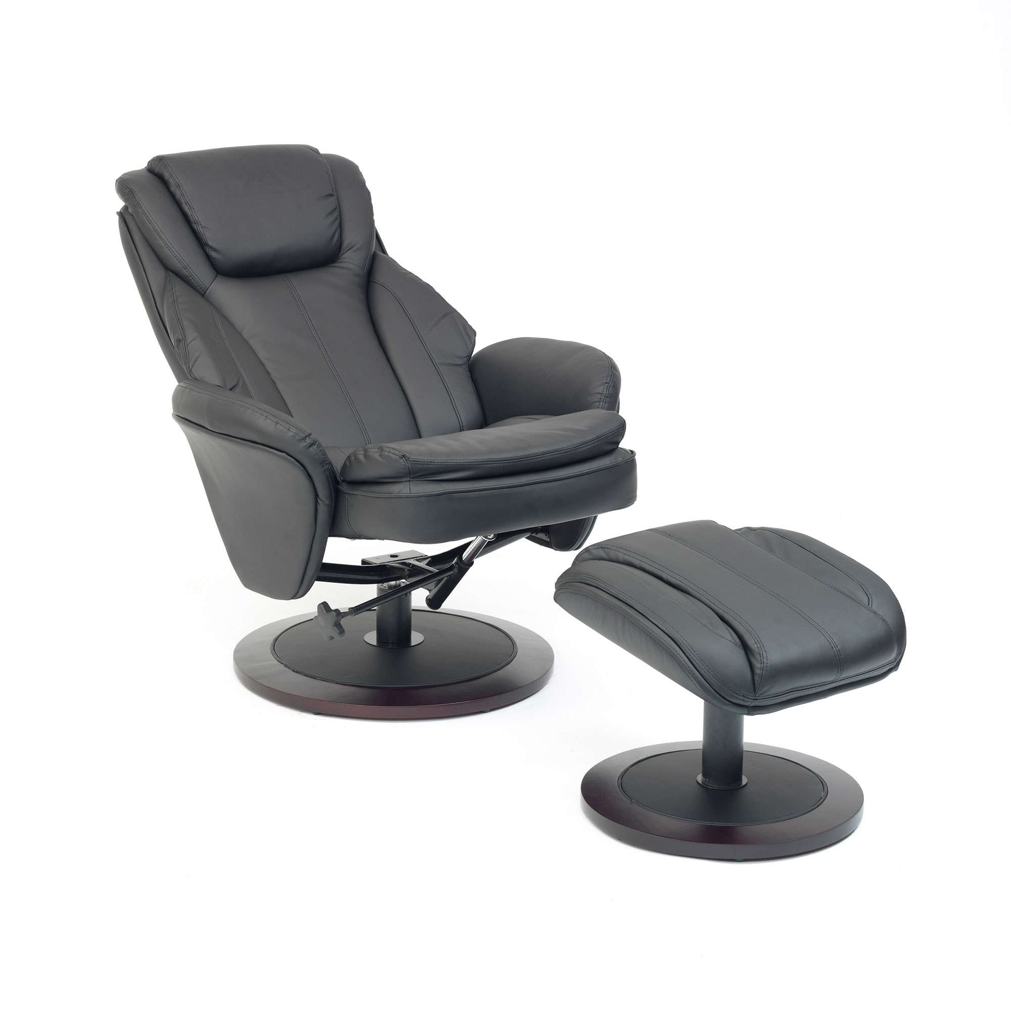 swivel chair feet camp chairs on sale florence recline with free foot stool all