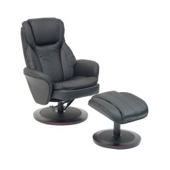 Swivel Chair Feet Cheap Rolling Chairs Florence Recline With Free Foot Stool All