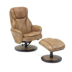 Swivel Chair Feet Outdoor Lift Florence Recline With Free Foot Stool All