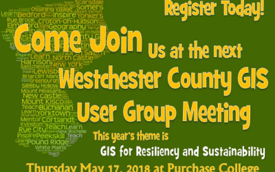 Still Time to Register for 2018 Westchester County GIS User Group Meeting!