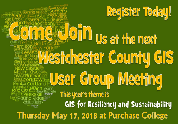 Less Than One Month Until the 2018 Westchester County GIS User Group Meeting