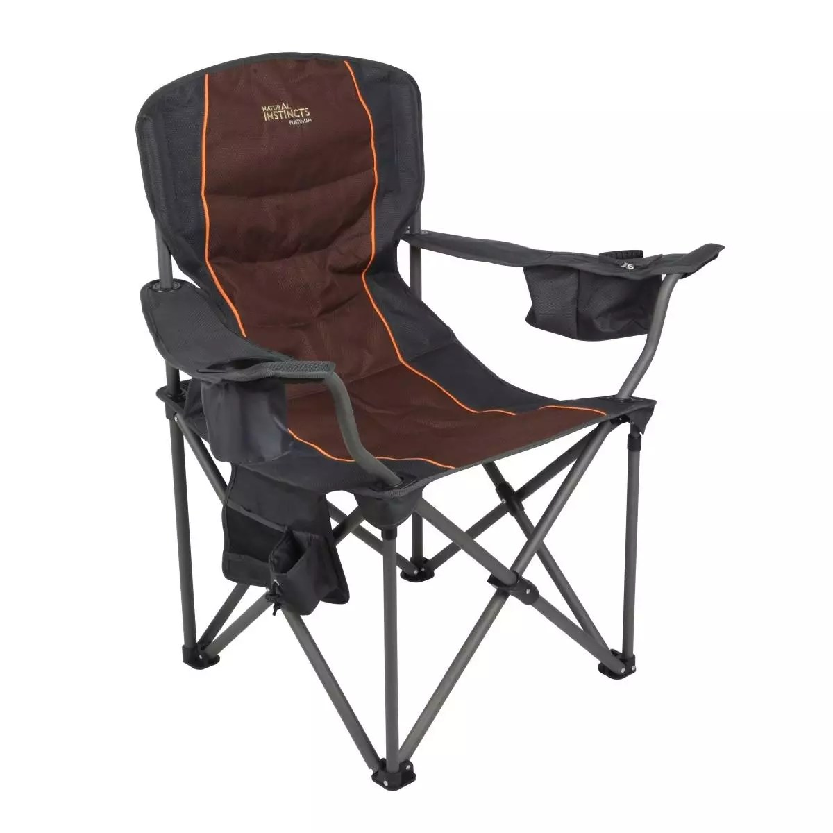 Deluxe Camping Chairs Natural Instincts Oversize Deluxe Heavy Duty Chair With Pocket