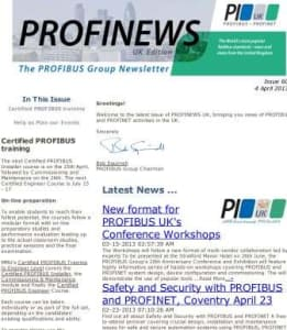 PROFIBUS and PROFINET News - Issue 60 Photo