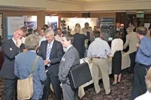 Delegates networking at the PROFIBUS Conference