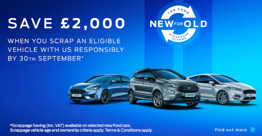 Save £2000 with the Ford Scrappage Scheme