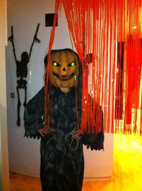 Bobblehead Pumpkin Costume Halloween Scary Costumes