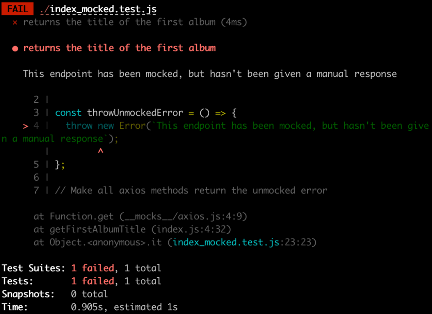 The only 3 steps you need to mock an API call in Jest - DEV