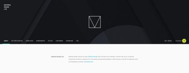 Cadre CSS de conception matérielle