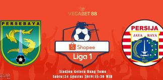 Prediksi Persebaya Surabaya vs Persija Jakarta - 24 Agustus 2019