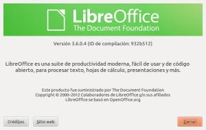 LibreOffice 3.6 en castellano