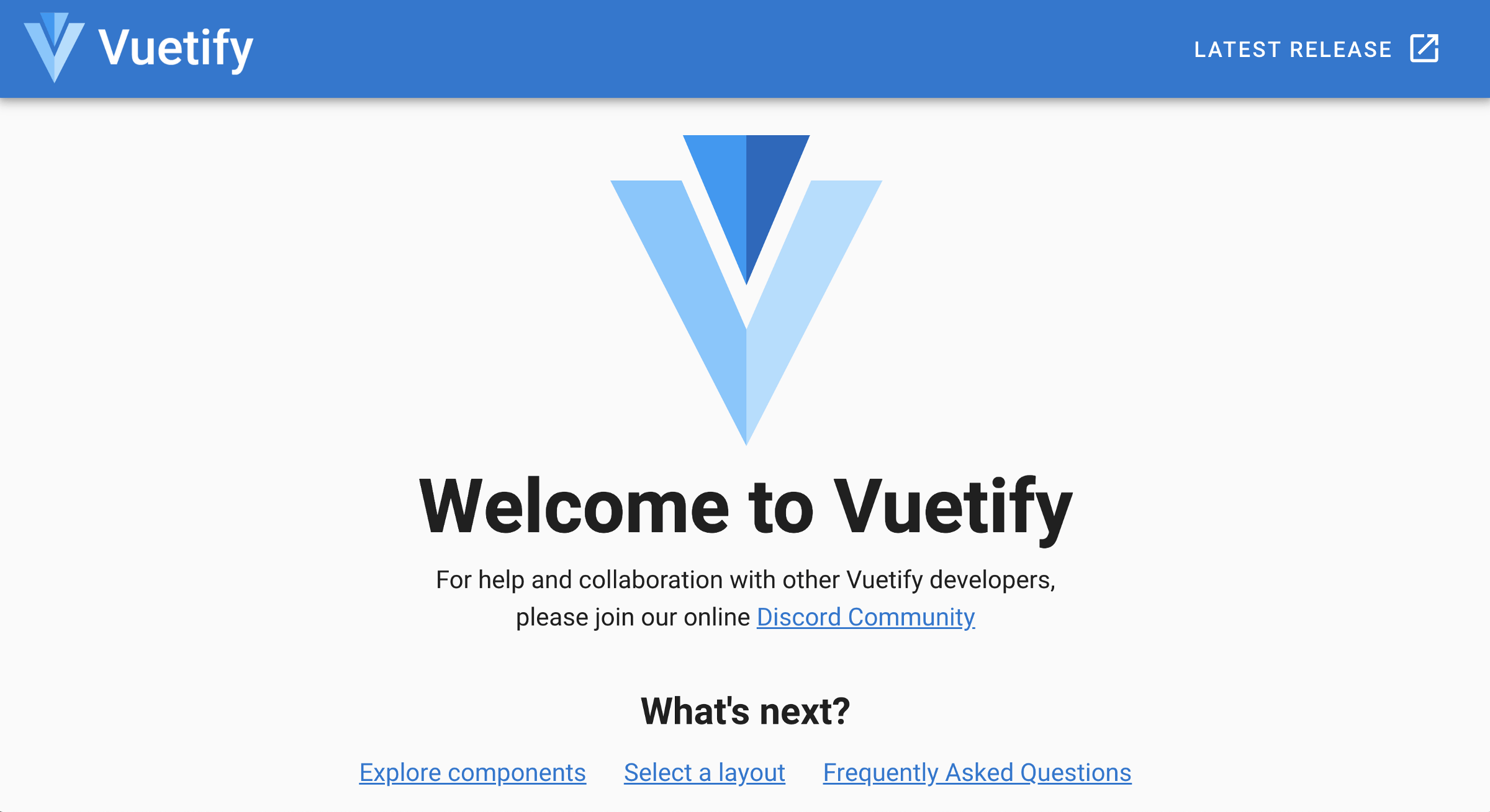 Vue app with Vuetify