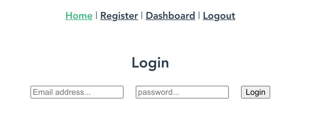 updated login form with styling