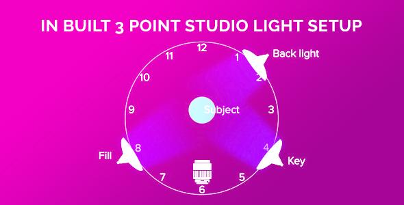 3 point light setup