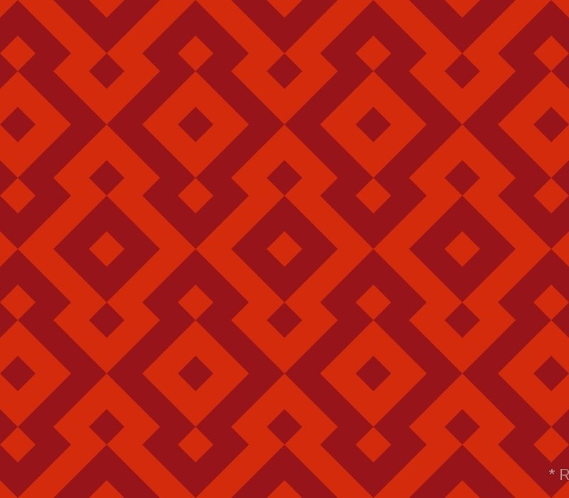 Geometric Pattern: Diamond / Red Wolf
