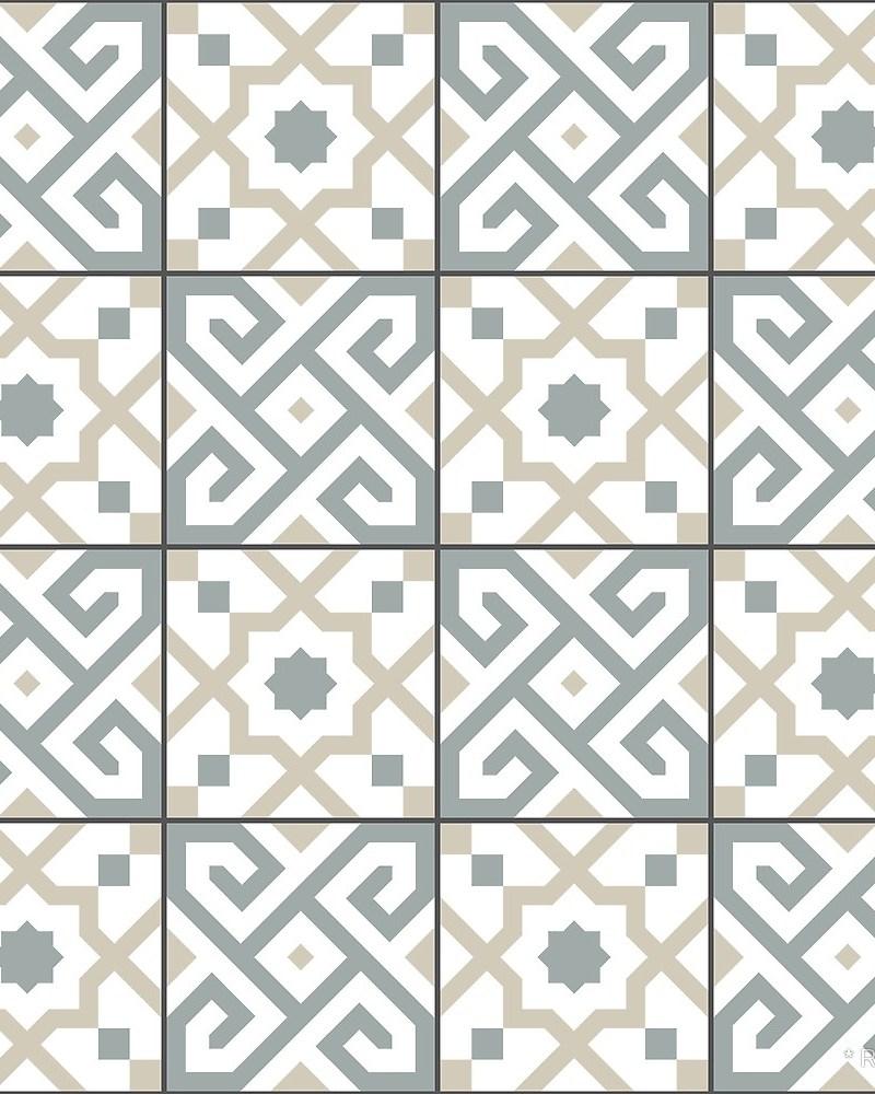 Geometric Pattern: Tiles / Red Wolf