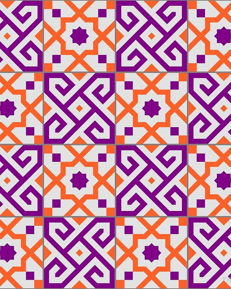 Geometric Pattern: Tiles / Red Wolf